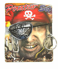 Children's Pirate Fancy Dress Pirate Set Bandana Eye Patch 1 x Earring Clip On.