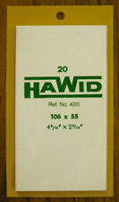 2 PACKS  OF HAWID MOUNTS 106  X  55MM - CLEAR   FREE SHIPPING     #HAW-10655C