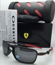 Polarized Scuderia FERRARI OAKLEY Sunglasses BADMAN OO6020-07 Carbon & Red Frame