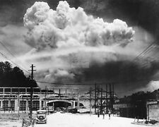 ATOMIC CLOUD OVER NAGASAKI AS SEEN FROM KOYAGI-JIMA JAPAN - 8X10 PHOTO (BB-731)