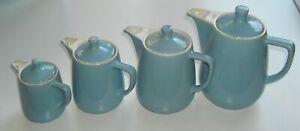 MELITTA MINDEN 4 Kaffeekannen blau 4 Größen 0,35 + 0,7 + 1,1 + 1,5 Liter