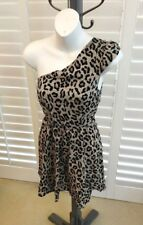 Reformed Urban outfitters Cheetah Print One shoulder Skater Dress XS