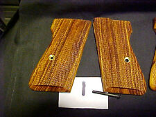 Walther PPKS PPK/S PP Cocobolo Checkered Pistol Grips Beautiful Grain & Color!