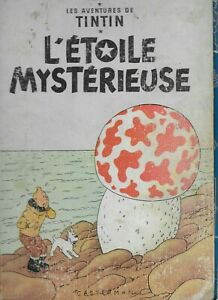TinTin 1956 L'Etoile Mysterieuse Herge Les Aventures Hardcover French Comics