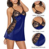 Sexy Women Lingerie Nightwear Underwear Sleepwear Babydoll G String Lace Dress
