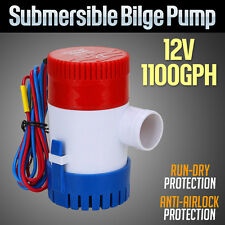 12V Submersible Bilge Water Pump Marine Fishing Boat Caravan Camping 1100GPH