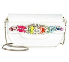 Steve Madden Pauline White Bling Small Clutch Shoulder Bag Purse MSRP $98