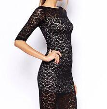 Lace Bodycon Midi Dress, Size L, As New