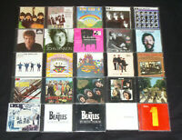 The Beatles CD lot album Rubber Soul, Let it Be, Live Box Greatest Hits Set