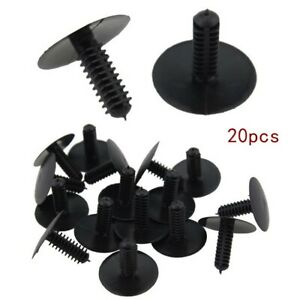 20pcs Clips Trunk Trim Mountings Fastener Screws 5mm Hole for Honda Civic Accord