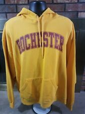 Rochester Minnesota Yellow Hooded Hoodie Sweatshirt Mens Size XXXL 3XL