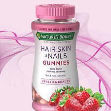 Nature's Bounty Hair, Skin and Nails, 230 Gummies, NO TAX