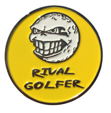 'Electric' YELLOW Golf Ball Marker