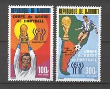 Soccer 1978 A71 MNH Djibouti 2v CV 8 eur