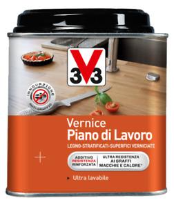 VERNICE PER PIANO DI LAVORO ULTRARESISTENTE PER INTERNO TRASPARENTE 0,5 LT. V33