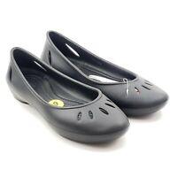 Crocs Kelli Flats Slip On Ballet Black Shoes Womens Sz 9 New With Tags 20395-001