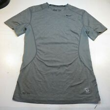 NIKE PRO COMBAT DRI FIT FITTED ATHLETIC GYM VENTED BACK JERSEY TEE T SHIRT Sz S