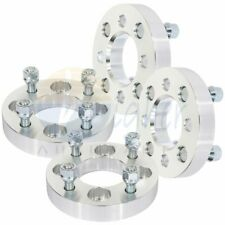 "4X silver wheel spacers 4x100 to 4x108 12x1.5 studs 1"" thick for Chevrolet Aveo"