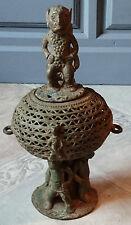ANCIEN POT EN BRONZE /DURU-VERE /FRONTIERE CAMEROUN ET NIGERIA