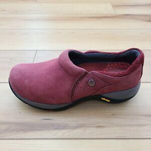 Dansko Celeste Red Nubuck Slip-On Vibram Waterproof Shoes Women's Size 36 / US 6