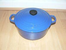 Le Creuset Cobalt Blue Cast Iron Round Casserole  -  22 cm