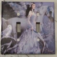 Light Switch Cover-FREE Shipping /'New!/' LARGER SIZE Snowy,Rearing Unicorn