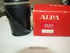 NEW OLD STOCK GENUINE ORIGINAL ALPA  BLACK COLOR LENS CARRYING  CASE with STRAP