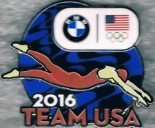 Rare 2016 Rio BMW USA Olympic Swimming Team NOC Sponsor Pin-on-Pin