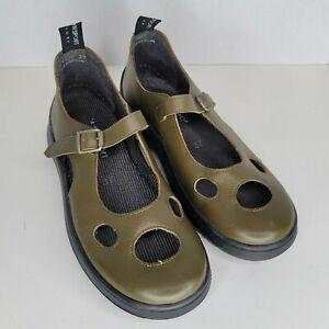 Giraudon Sport Women's Shoes Olive Green Leather Mary Jane Slip On EU 37 US 7