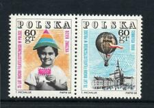 POLAND 1968 SG1832 1833 75 YEARS OF POLISH PHILATELY 2 stamps