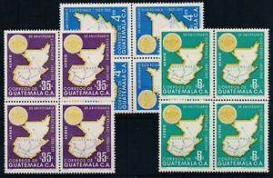 [P50078] Guatemala Airmail 1956 Airmail good set blocks of 4 MNH VF stamps