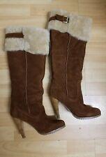 Splendido Charles David Lungo Inverno Scarpe con pelliccia, taglia 6M/UK3.5 - in buonissima condizione, prezzo Consigliato € 450