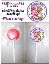 24 Shopkins Birthday Party OR Baby Shower Lollipop Sticker Invitation Seal Label