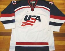 VINTAGE AUTHENTIC NIKE TEAM USA HOCKEY AUTOGRAPHED JERSEY SIZE L