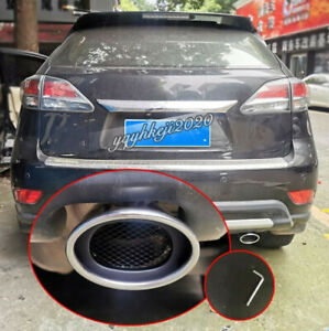 Fit For 2010-2015 Lexus RX270 RX350 Stainless Rear Exhaust Muffler Tip End Pipe