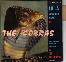 """THE COBRAS LA-LA / THE DREAMLOVERS TOGETHER FRENCH ORIG EP 45 PS 7"""" DOO WOP"""