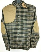 NEW Woolrich Plaid Flannel Padded Shooting Long Sleeve Hunting Shirt Men M L NWT