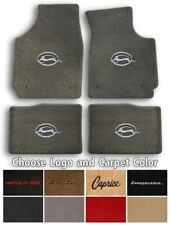 Impala/Caprice/Bel-Air 4pc Classic Loop Carpet Floor Mats - Choose Color & Logo
