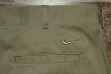 Nike Golf Performance Tech Pants 472532 Beige 36x30 Polyester Blend Dri Fit