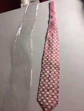 Magnifique cravate Couleurs du Sud Bandol Côte d'Azur 100% soie rose neuve