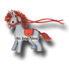 """Vintage Small Stuffed Animal Toy Pattern ~ Pony, Horse ~ 5"""" tall"""