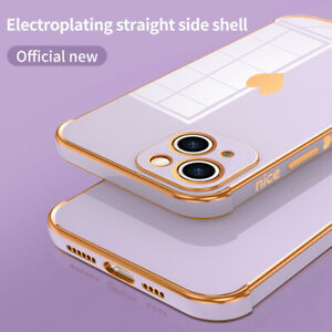 Plating Heart Bumper Soft Cube Case For iPhone 13 Pro Max 12 11 XS XR 7 8 Cover