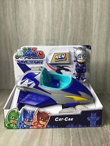 PJ Masks Save the Sky Cat Car with Catboy Figure / New in Box NIB