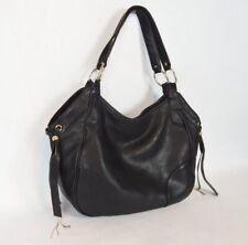 Juicy Couture Genuine Black Leather Slouchy Hobo Handbag Purse
