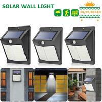 50/70/90/100LED Solar PIR Motion Sensor Wall Light Outdoor Garden Waterproof