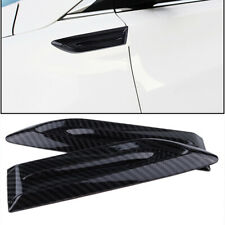 2xCarbon Fiber Look Side Wing Car Air Flow Intake Vent Fender Scoop Bonnet Decor