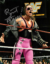 WWE BRET THE HITMAN HART HAND SIGNED AUTOGRAPHED 8X10 PHOTO WITH COA 11
