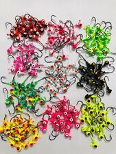 50 PCs 100 PCs 1/16 oz Lead Jig Heads Fishing Hooks Crappie-Panfish-Trout