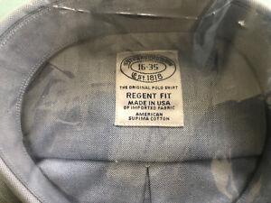 Brooks Brothers OCBD Regent Fit Blue 16 X 35 NWT $140 Made in USA