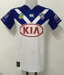 CANTERBURY BULLDOGS NRL HOME JERSEY BY CANTERBURY SIZE BOYS 14 YEARS BRAND NEW